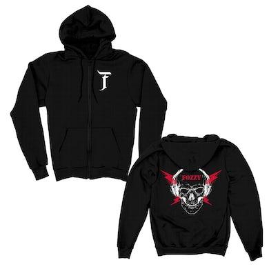 Fozzy Skull Bolt Zip Hoodie (Black)