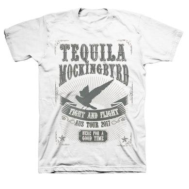 Tequila Mockingbyrd Fight and Flight AUS 2017 Tour T-shirt (White)