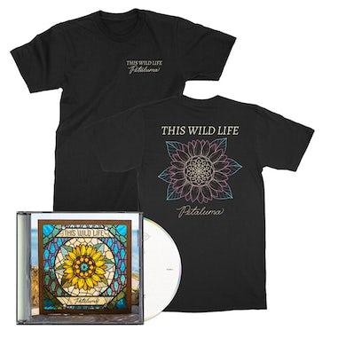 This Wild Life Petaluma CD + Petaluma Flower T-shirt (Black)