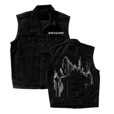 Rise Against Wolves Denim Vest (Black)