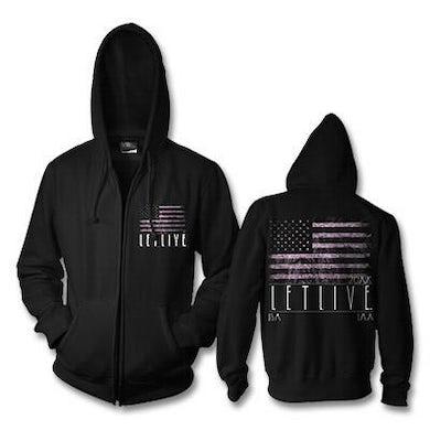 Letlive American Flag Zip-Up Hoodie