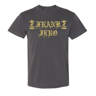 Frank Iero Old English T-shirt (Faded)