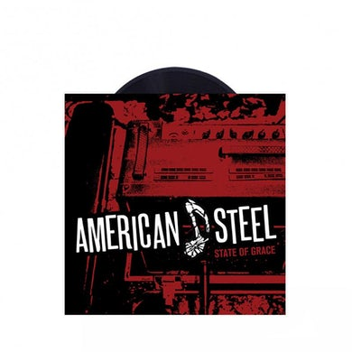 "American Steel State of Grace 7"" (Transparent Red w/ Blue and Black Splatter) (Vinyl)"