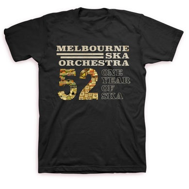 Melbourne Ska Orchestra One Year of Ska T-shirt (Black)