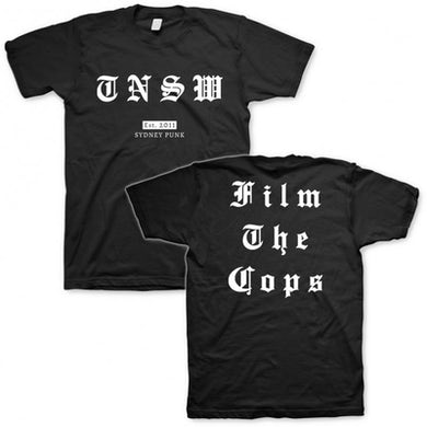 These New South Whales Film The Cops Tee (Black)