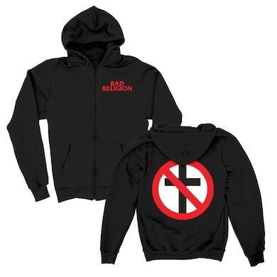 Bad Religion Big Crossbuster Zip Hood (Black)