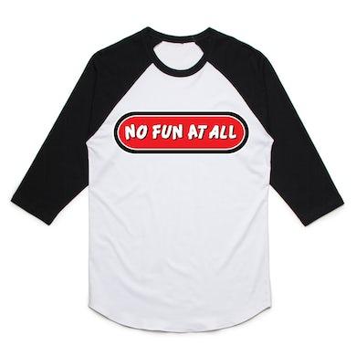 No Fun At All Logo Baseball Tee (White/Black)