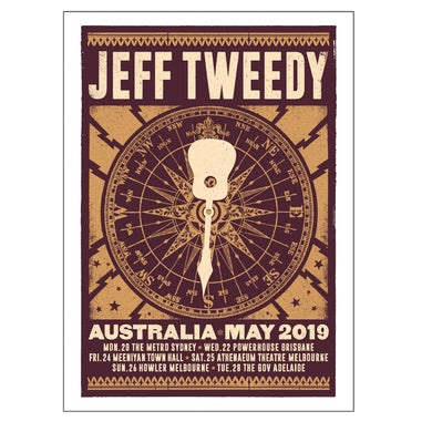 Jeff Tweedy Compass 2019 Tour Poster (A2)