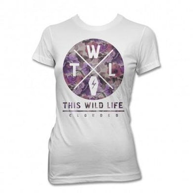 This Wild Life Clouded Floral Womens T-shirt