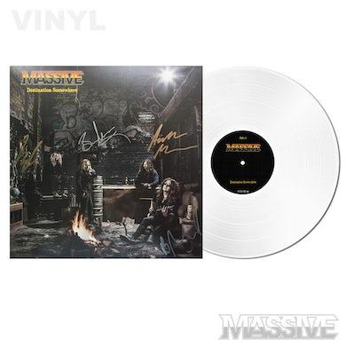 Massive Destination Somewhere LP (White Aust Excl Ltd Ed) Signed (Vinyl)
