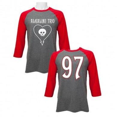 Alkaline Trio Heartskull Baseball T-shirt (Heather/Red)