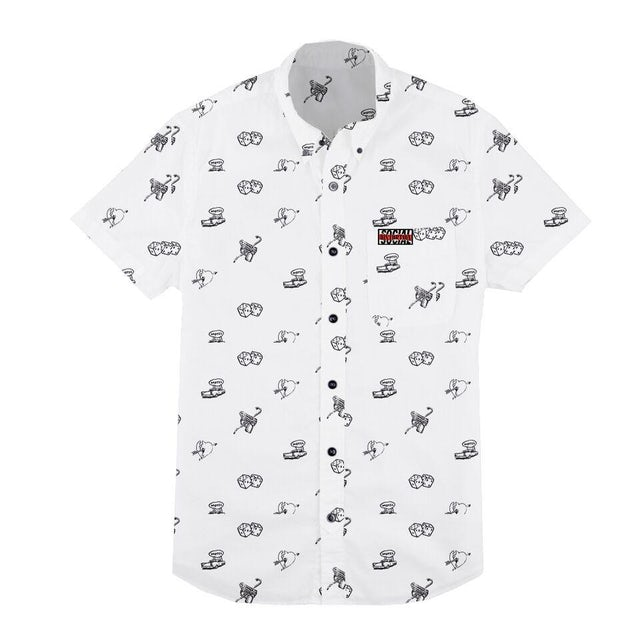 Social Distortion Icons Button Down Shirt (White)