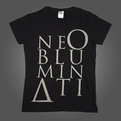 NE OBLIVISCARIS Ne Obluminati Stacked Logo T-shirt (Womens)