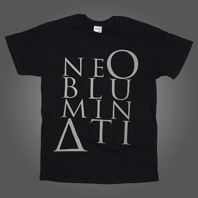 NE OBLIVISCARIS Ne Obluminati Stacked Logo T-shirt (Black)