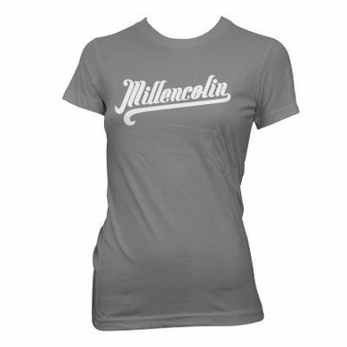 Millencolin Womens Baseball T-shirt (Grey) Tour Ed