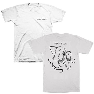 Vera Blue Abstract T-shirt (White)