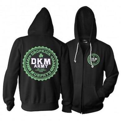 Dropkick Murphys DKM Army Zip Up Hoodie
