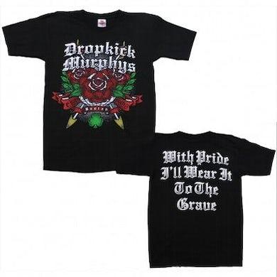 Dropkick Murphys DKM  New Rose Tattoo T-shirt (Black)