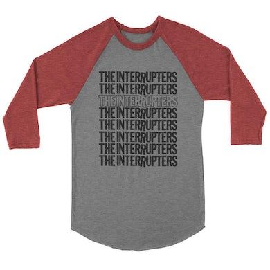 The Interrupters Repeater Raglan (Heather Grey/Maroon)