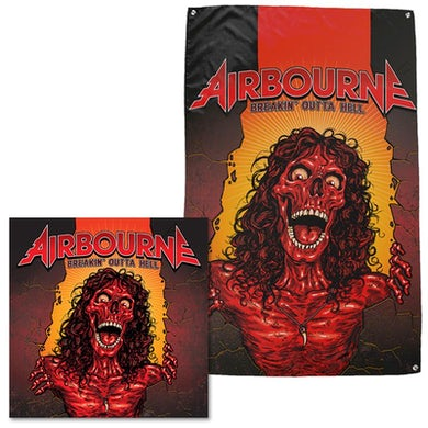 Airborne Breakin' Outta Hell Flag