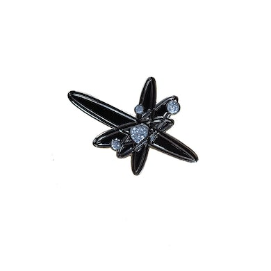 Strung Out Black Glitter Astrolux Pin