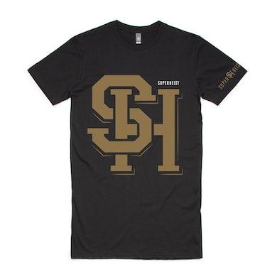 Superheist Gold Logo Tall T (Black)