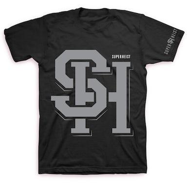 Superheist Grey Logo T (Black)