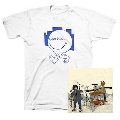 GIRLPOOL Powerplant CD + Happy Face T-shirt (White)