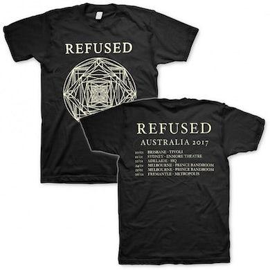 Refused 2017 Australian Tour T-shirt (Black)