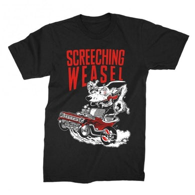 Screeching Weasel Hot Rod T-shirt (Black)