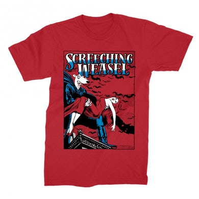 Screeching Weasel Dracula T-shirt (Red)