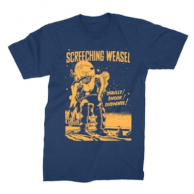 Screeching Weasel Forbidden Planet T-shirt (Navy)