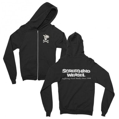 Screeching Weasel Suffering Fools Zip Up Hoodie (Black)