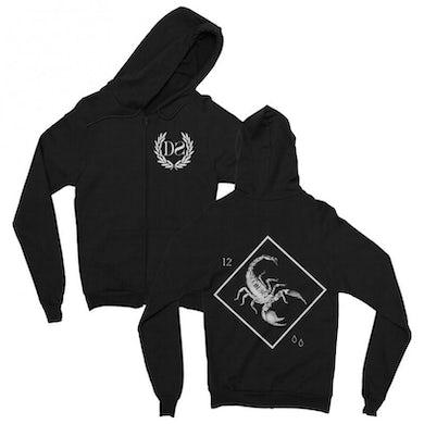 Death Spells Scorpion Zip Up Hoodie (Black)