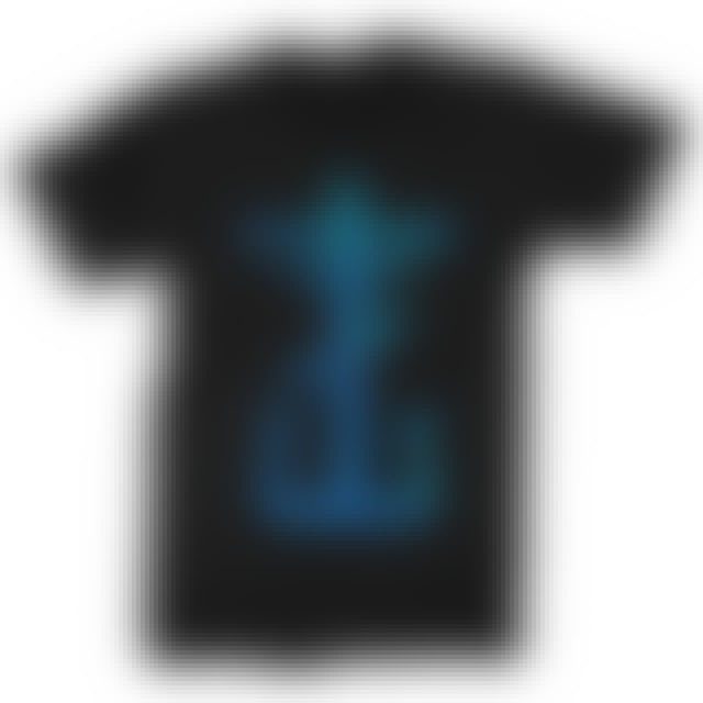 Frank Iero Blue Cross T-shirt (Black)