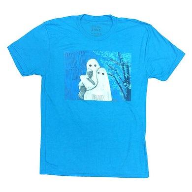 Frank Iero Parachutes Album Cover T-shirt (Heather Blue)