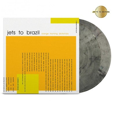 Jets to Brazil Orange Rhyming Dictionary 2LP + Gold Pin (Clear/Black) (Vinyl)