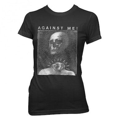 Against Me! Video Skull Womens T-shirt (Black)