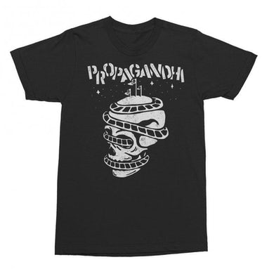 Propagandhi Rollercoaster Skull T-shirt (Black)