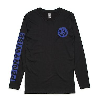 Pennywise Blue Logo Longsleeve Tee (Black)