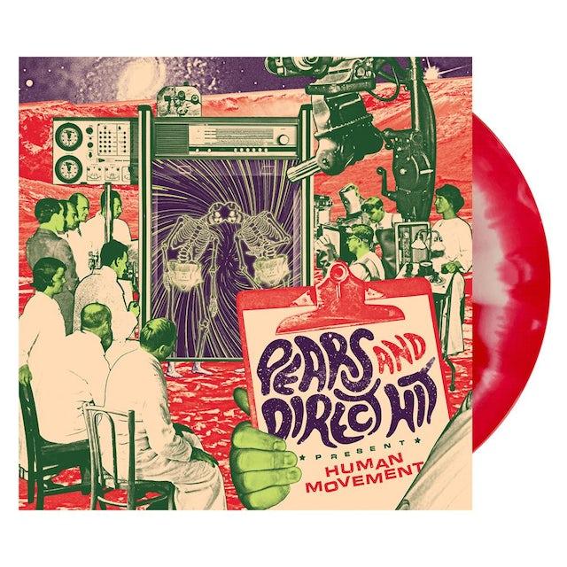 Direct Hit! Human Movement (split) LP (Bone/Red) (Vinyl)
