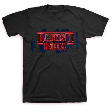 British India Stranger Logo T-shirt (Black)