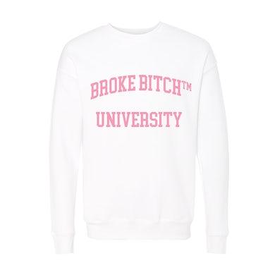 Amber Scholl Broke Bitch University Crewneck