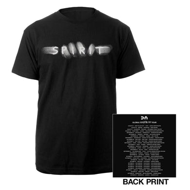 Depeche Mode Spirit/US Dates Black T-shirt