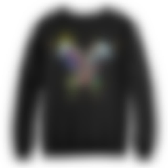 Coldplay Butterfly Black Crewneck Sweatshirt