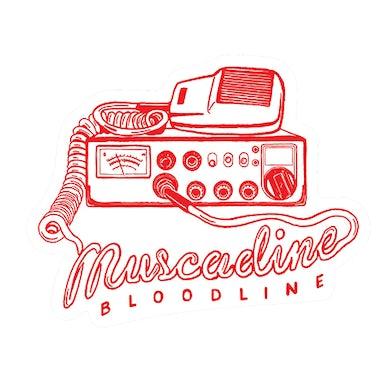 Muscadine Bloodline Radio Die Cut Sticker - Red