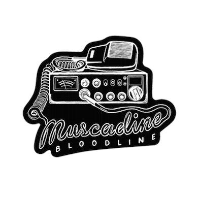 Muscadine Bloodline Radio Die Cut Sticker - Black