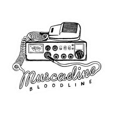 Muscadine Bloodline Radio Die Cut Sticker - White