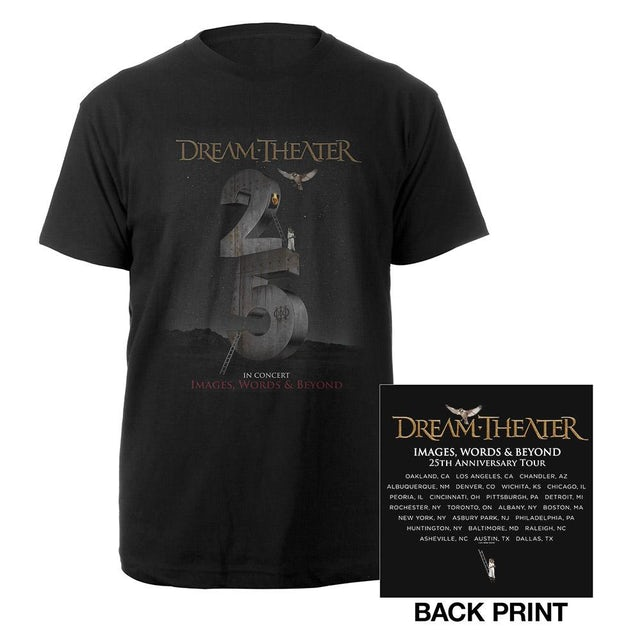 Dream Theater Images and Words 25th Anniversary US Tour Tee
