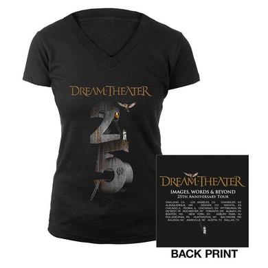 Dream Theater Women's Images and Words 25th Anniversary US Tour Tee
